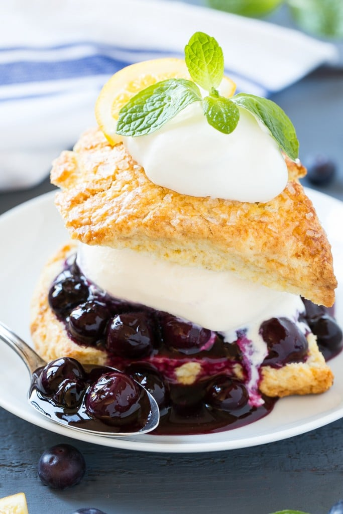 for blueberry shortcake is vanilla ice cream and homemade blueberry ...