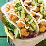 Fried Shrimp Tacos with Avocado Relish