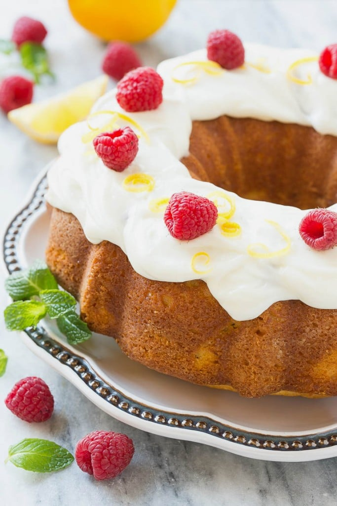 This recipe for a classic lemon bundt cake with cream cheese frosting is a simple yet elegant cake that's full of sweet-tart lemon flavor - perfect for a birthday or any other special occasion!
