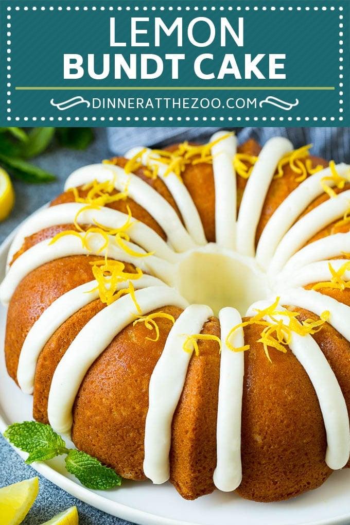Lemon Bundt Cake | Lemon Cake #cake #lemon #dessert #frosting #dinneratthezoo