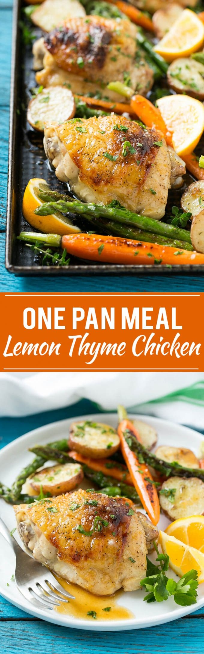 Lemon Thyme Chicken Recipe | Lemon Thyme Chicken with Vegetables | Sheet Pan Lemon Chicken | Easy Sheet Pan Chicken and Vegetables