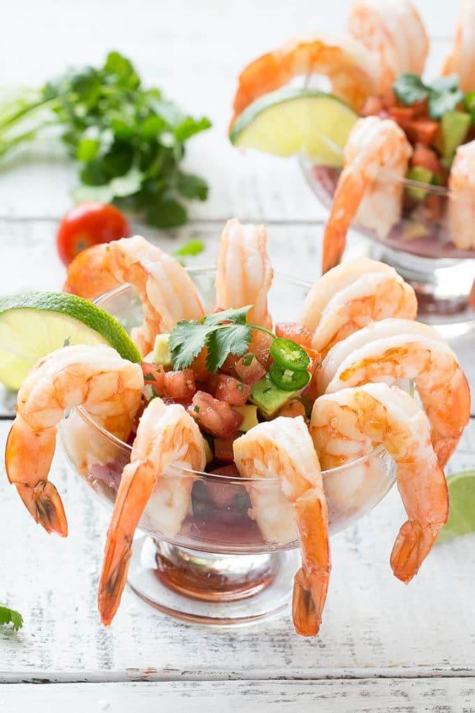 Mexican Shrimp Cocktail (Coctel de Camarones) - Dinner at the Zoo