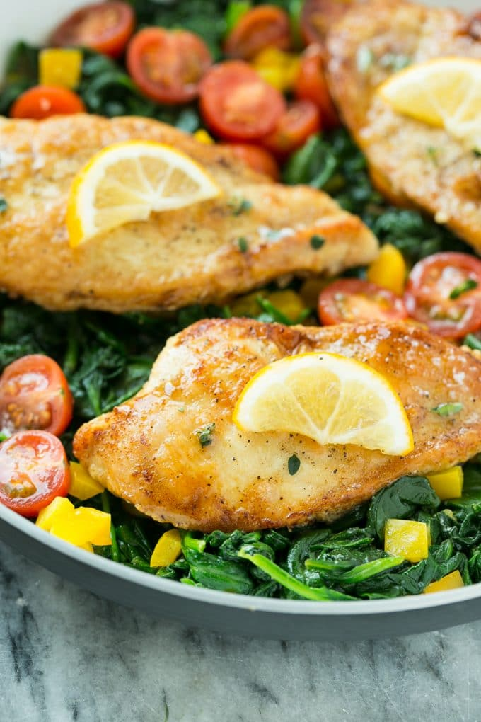 Seared Chicken Breasts With Cherry Tomato Pan Sauce And ...