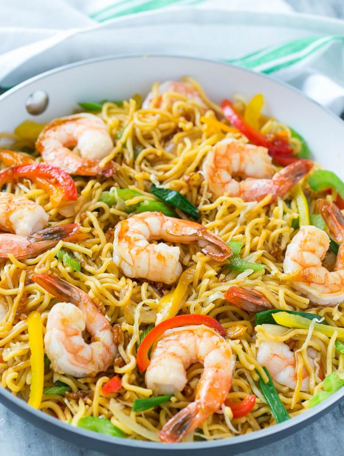 Shrimp Chow Mein (One Pot Meal)