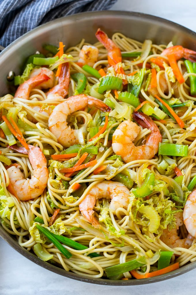 Shrimp Chow Mein One Pot Meal Dinner At The Zoo
