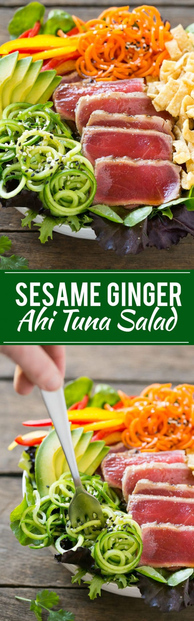 Ahi Tuna Salad with Sesame Ginger Dressing Recipe | Tuna Salad | Seafood Salad #ahi #tuna #salad #dinner #lunch #dinneratthezoo