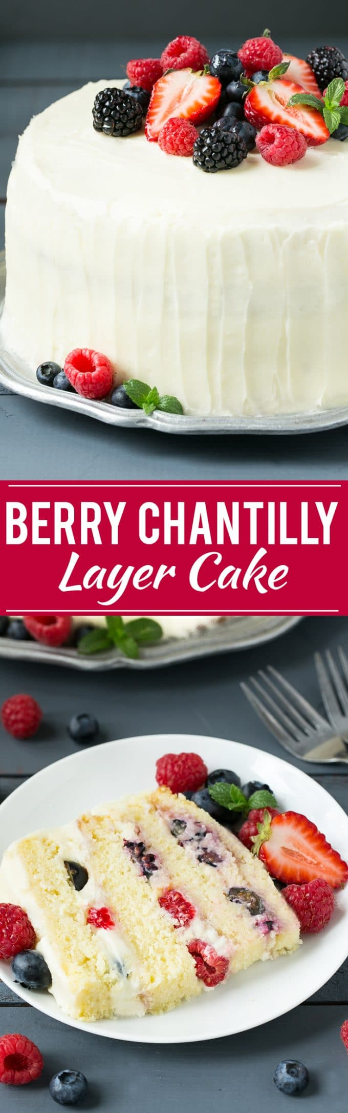 Berry Chantilly Cake Recipe | Chantilly Cake | Yellow Cake #cake #berries #dessert #dinneratthezoo