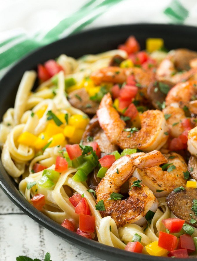 Cajun Shrimp and Sausage Pasta