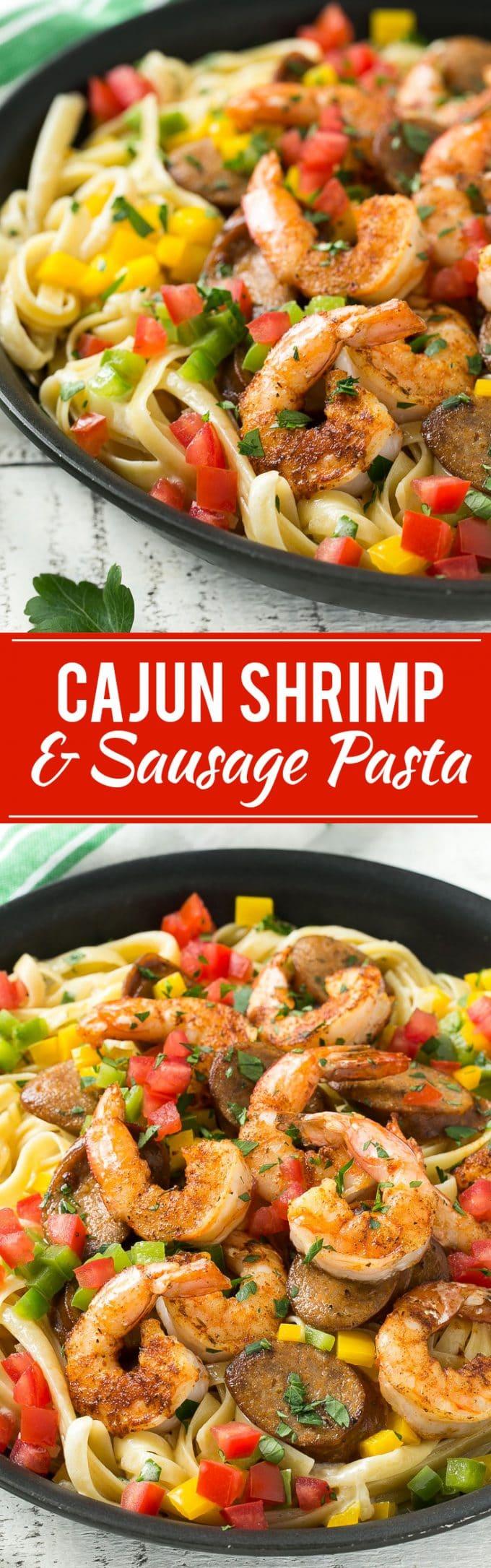 Cajun Shrimp and Sausage Pasta Recipe | Cajun Shrimp and Sausage Pasta ...