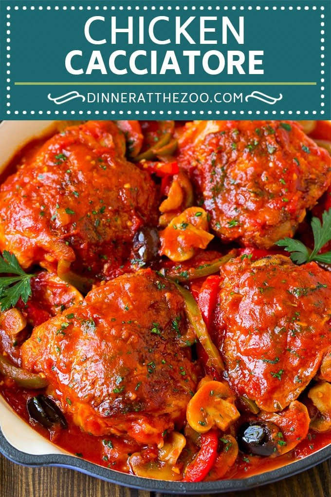 Chicken Cacciatore Recipe | Italian Chicken #chicken #peppers #mushrooms #olives #dinner #dinneratthezoo