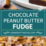 Chocolate Peanut Butter Fudge Recipe | Peanut Butter Cup Fudge | Easy Fudge Recipe #chocolate #peanutbutter #fudge #baking #dessert #dinneratthezoo