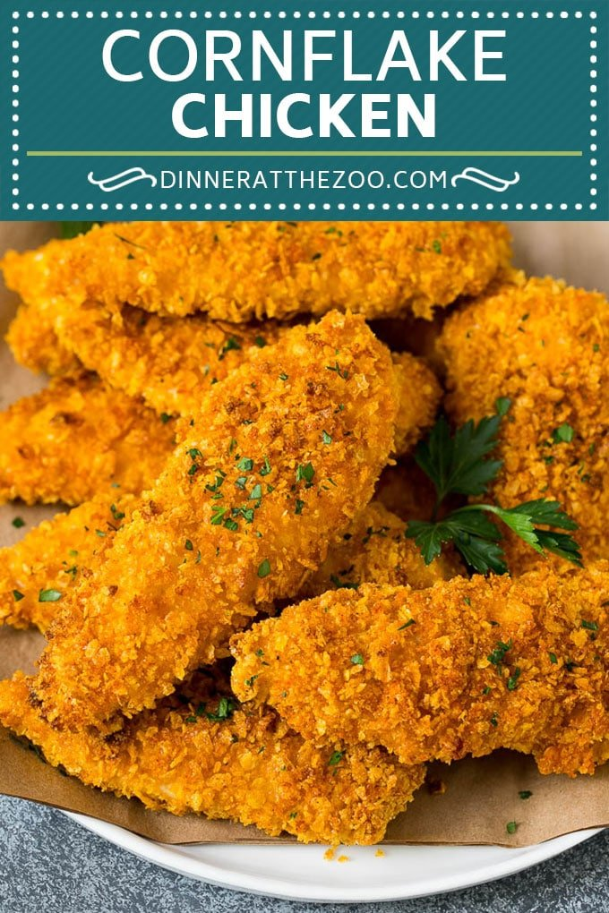 Cornflake Chicken Recipe | Chicken Fingers #chicken #dinner #dinneratthezoo