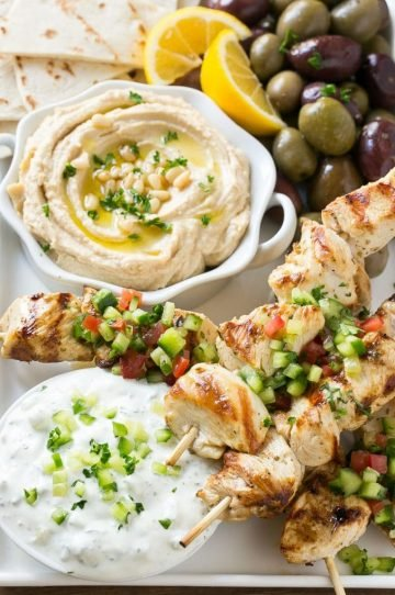 Greek chicken souvlaki and why I use organic chicken in my cooking.