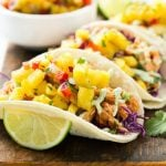 Pulled Chicken Tacos with Pineapple Salsa