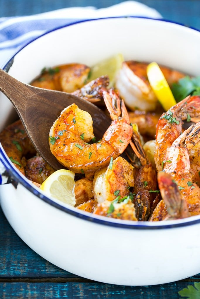 This recipe for New Orleans BBQ shrimp is tender and succulent shrimp ...