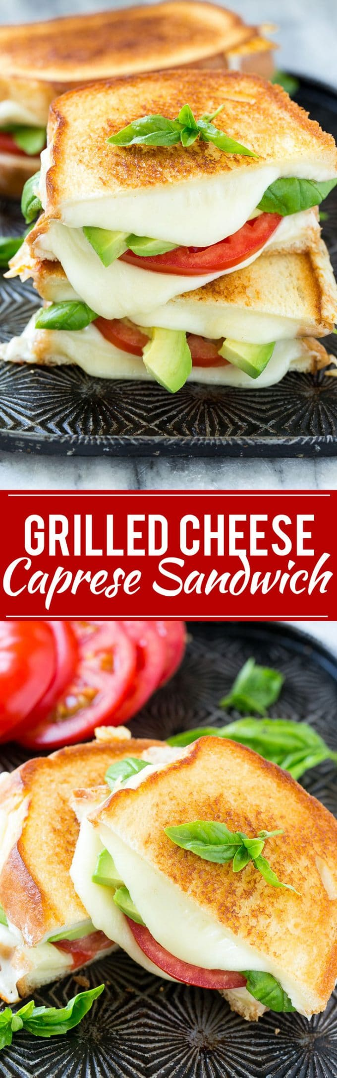 Caprese Sandwich Recipe | Grilled Cheese Sandwich | Grilled Caprese Sandwich | Caprese Recipe