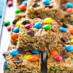This recipe for monster cookie bars is a more wholesome remake of the classic that you can feel good about feeding to your family. These cookie bars are loaded with oats, whole wheat flour and peanut butter for plenty of flavor with more nutrition (and less sugar!) AD