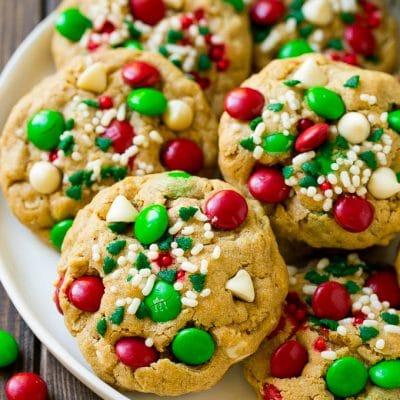 Monster Cookies (Christmas Version)