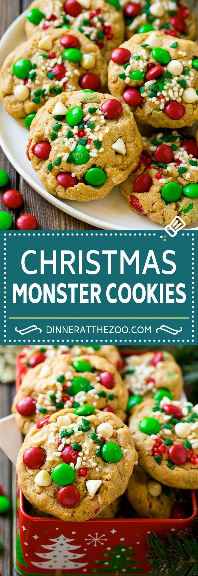 Monster Cookies Christmas Version Dinner At The Zoo