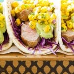 Pork Tenderloin Tacos with Corn Salsa