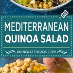 Mediterranean Quinoa Salad Recipe | Healthy Quinoa Salad | Chopped Salad #quinoa #healthy #cleaneating #lunch #dinner #dinneratthezoo