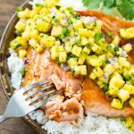 Salmon Teriyaki with Pineapple Salsa