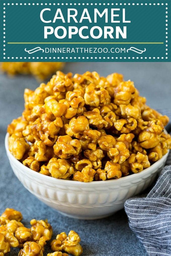 Caramel Popcorn Recipe | Caramel Corn #popcorn #caramel #snack #dessert #dinneratthezoo