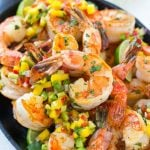 Cilantro Lime Shrimp with Mango Avocado Salsa