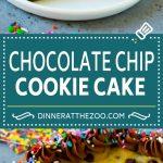 Cookie Cake Recipe | Chocolate Chip Cookie Cake #cookies #cake #chocolate #dessert #dinneratthezoo #sprinkles