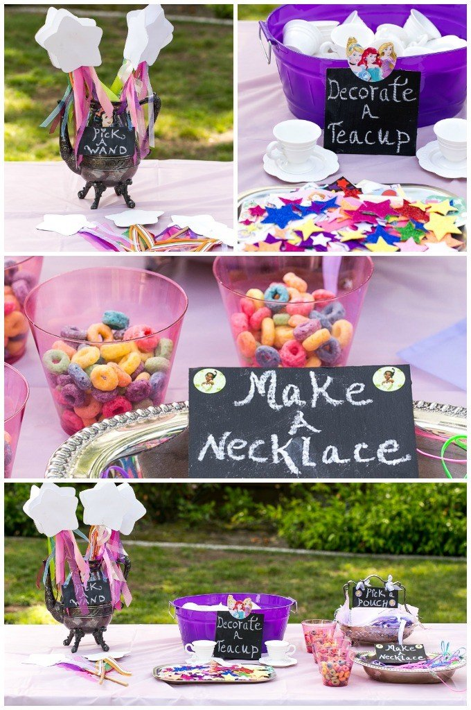 A princess tea party dinner at the zoo for Princess birthday party crafts