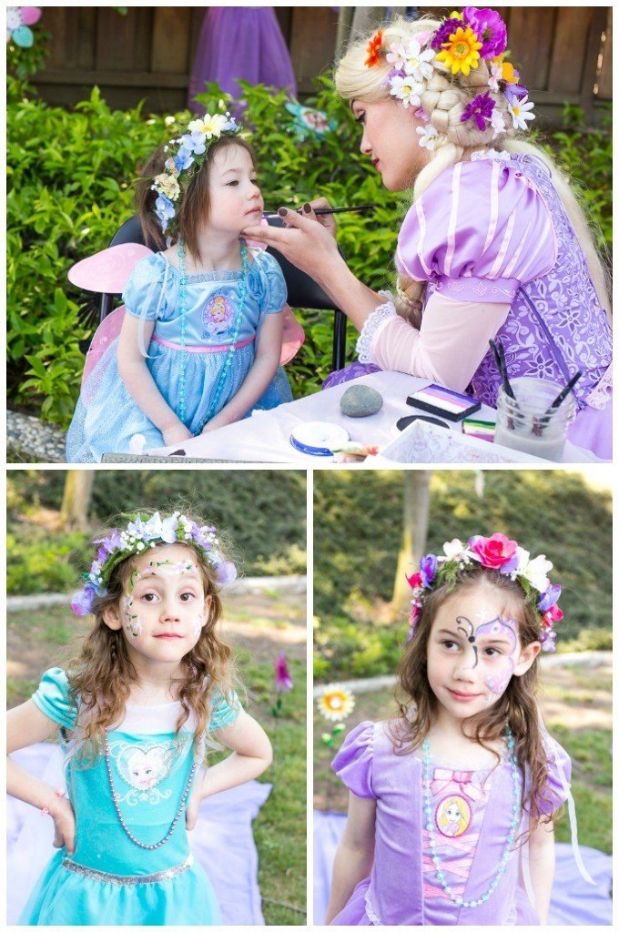 A princess tea time birthday party including ideas for food, crafts, activities, favors and more!
