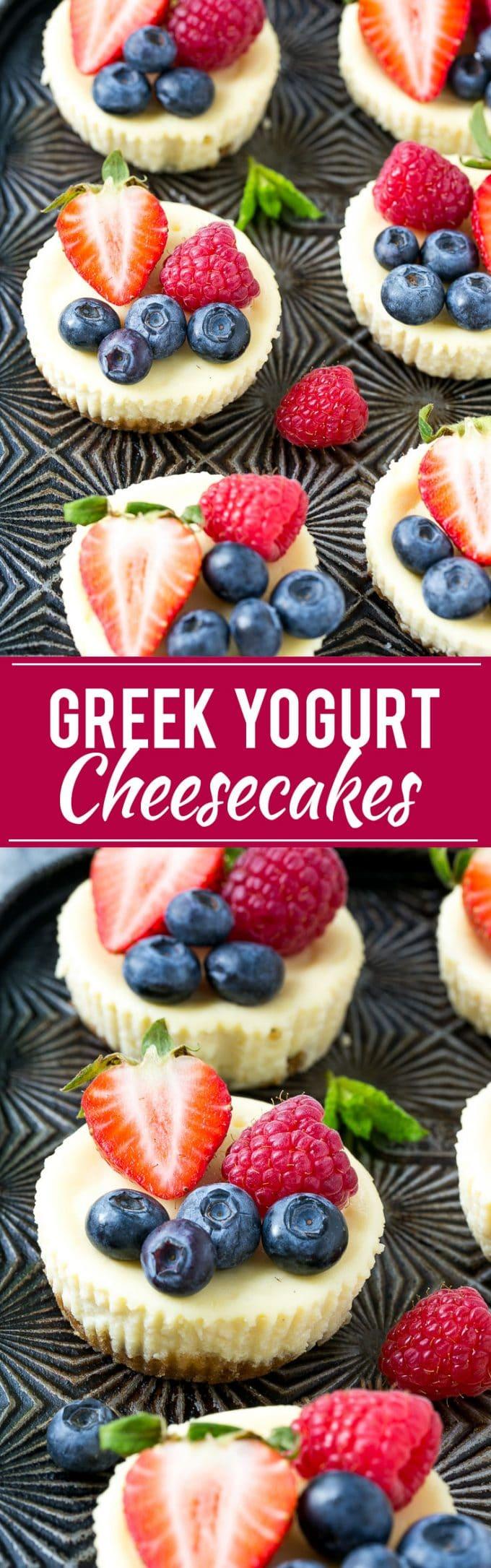 Greek Yogurt Cheesecake Recipe | Mini Cheesecakes | Healthy Cheesecake Recipe | Light Cheesecake Recipe