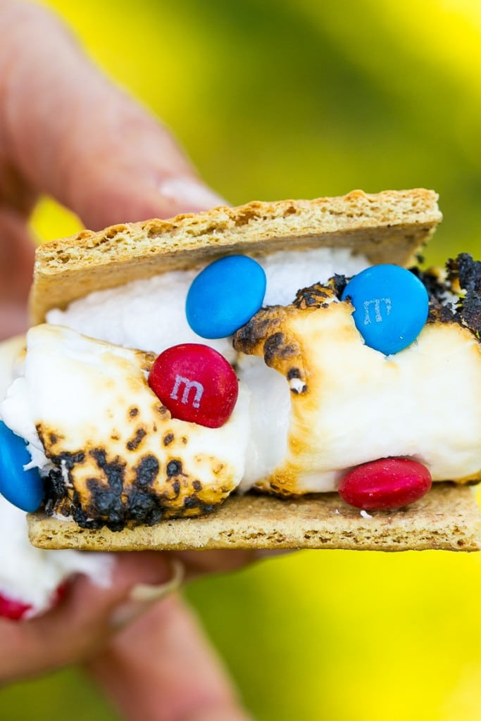 S'mores with M&M's in them.