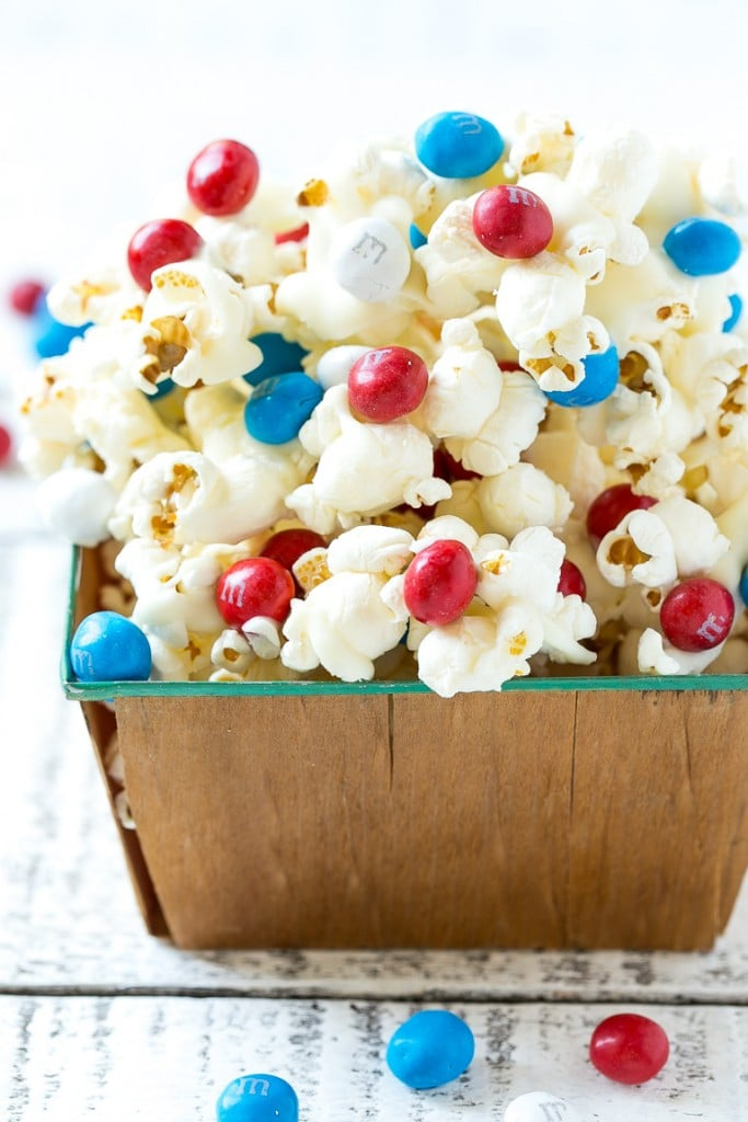 Red white and blue popcorn.