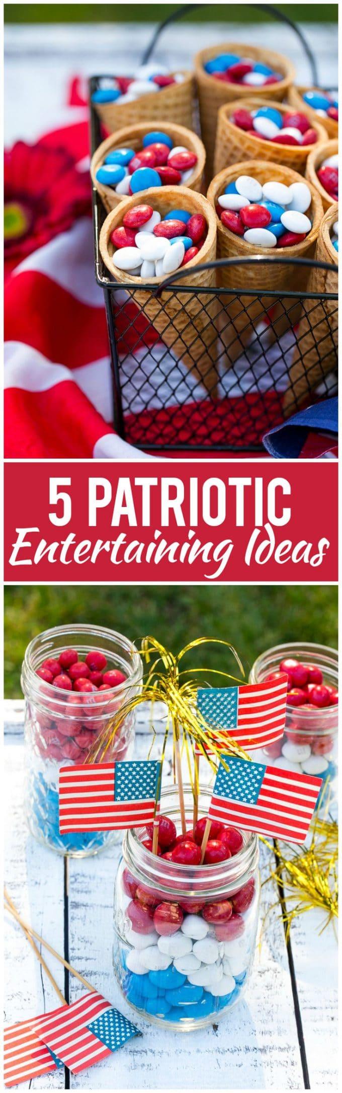 Patriotic Entertaining Ideas #4thofJuly #dessert #dinneratthezoo #memorialday #patriotic
