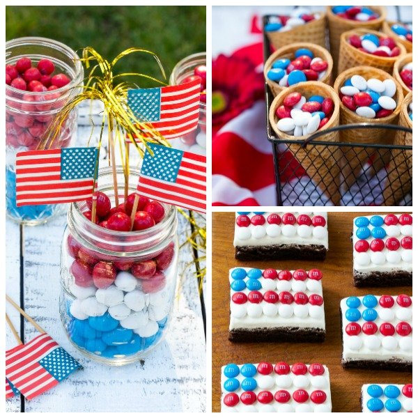 Red white and blue party ideas.