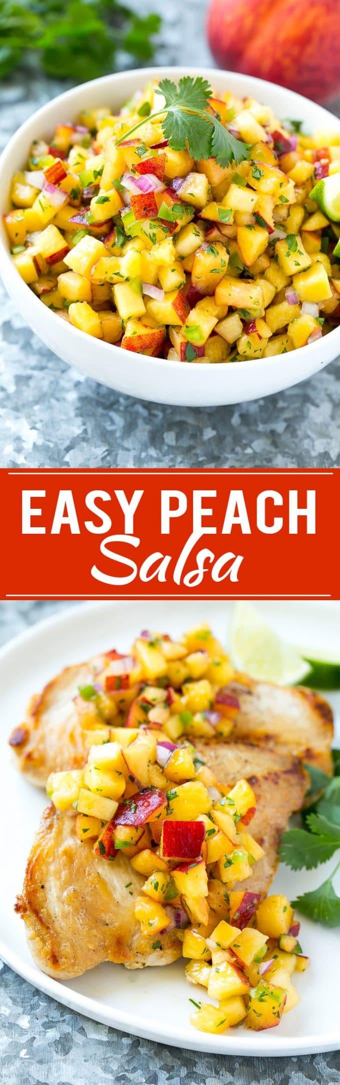 Peach Salsa | Fruit Salsa #peaches #salsa #dip #appetizer #dinneratthezoo