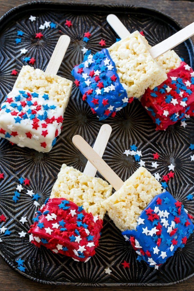 5 red white and blue treats.