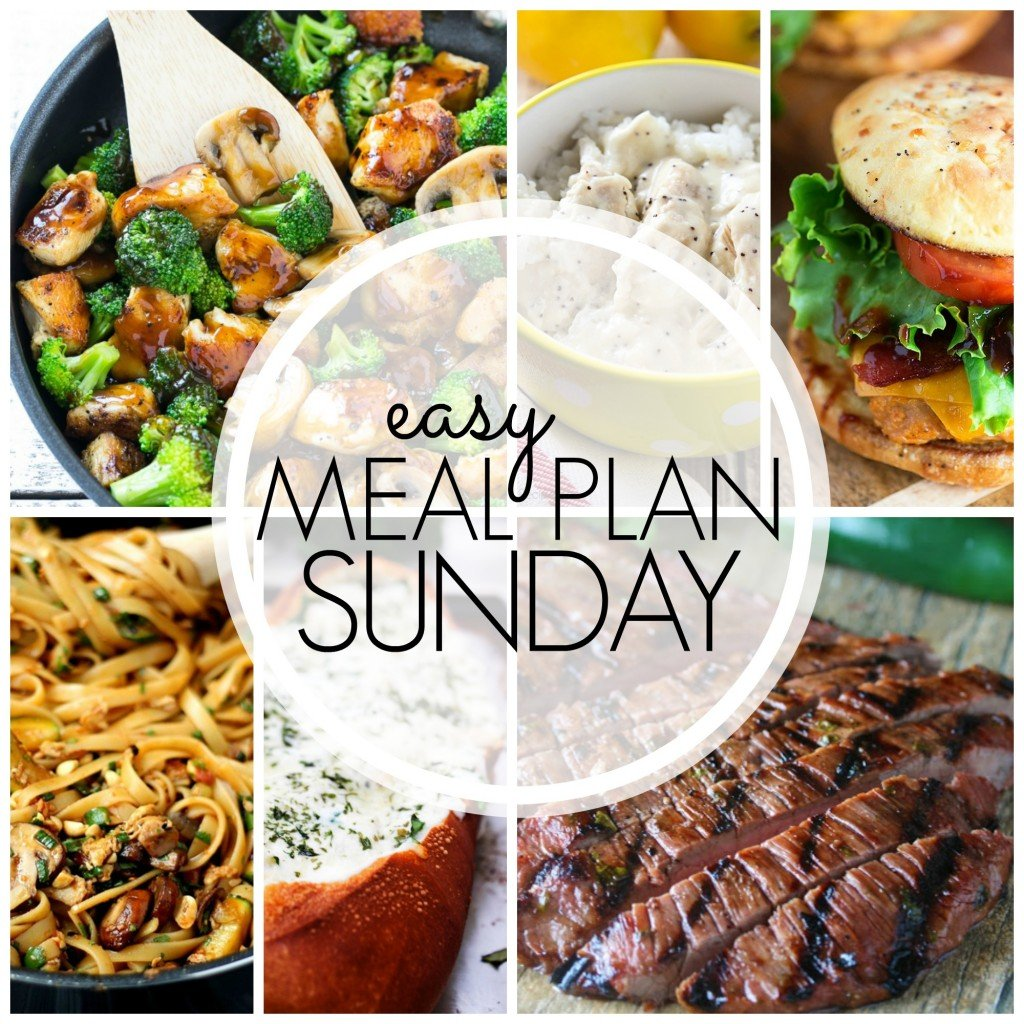 Easy Meal Plan Sunday Week 50
