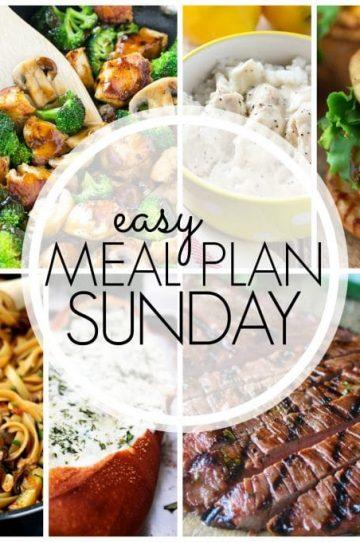 Easy Meal Plan Sunday Week 50