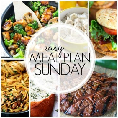 Easy Meal Plan Sunday (Week 50)