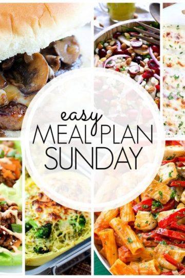 Easy Meal Plan Sunday Week 51