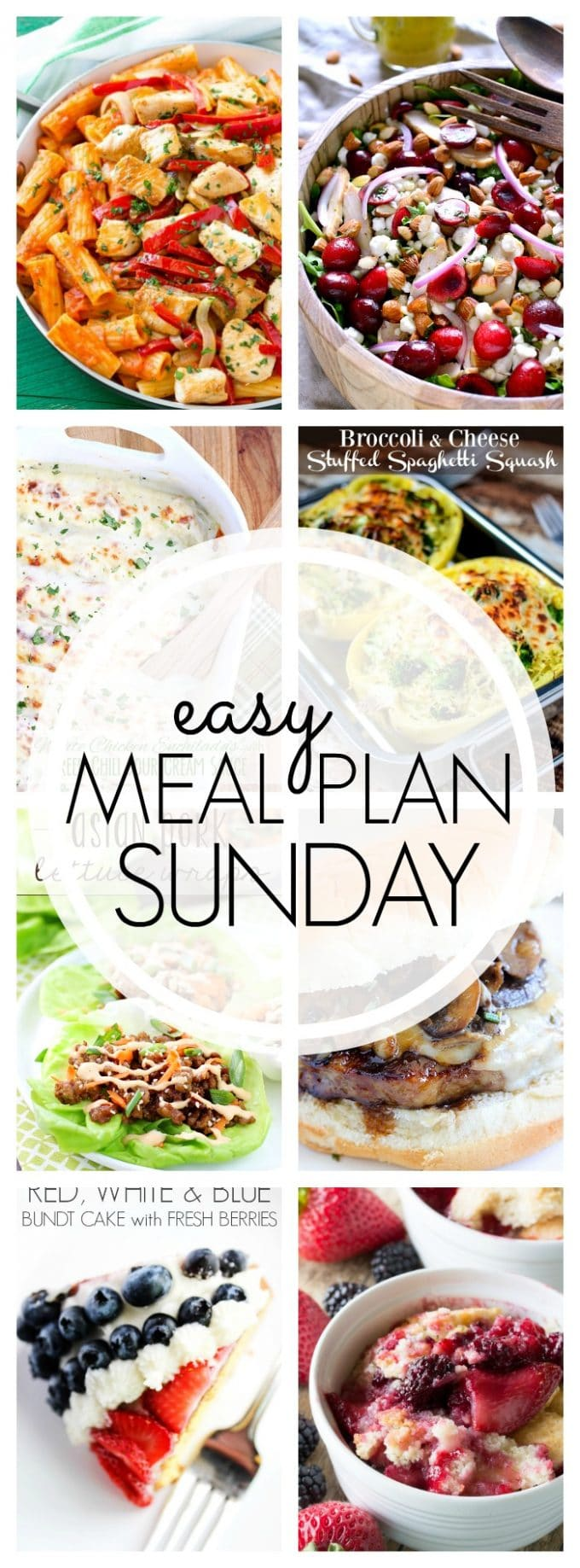 Easy Meal Plan Sunday Week 51