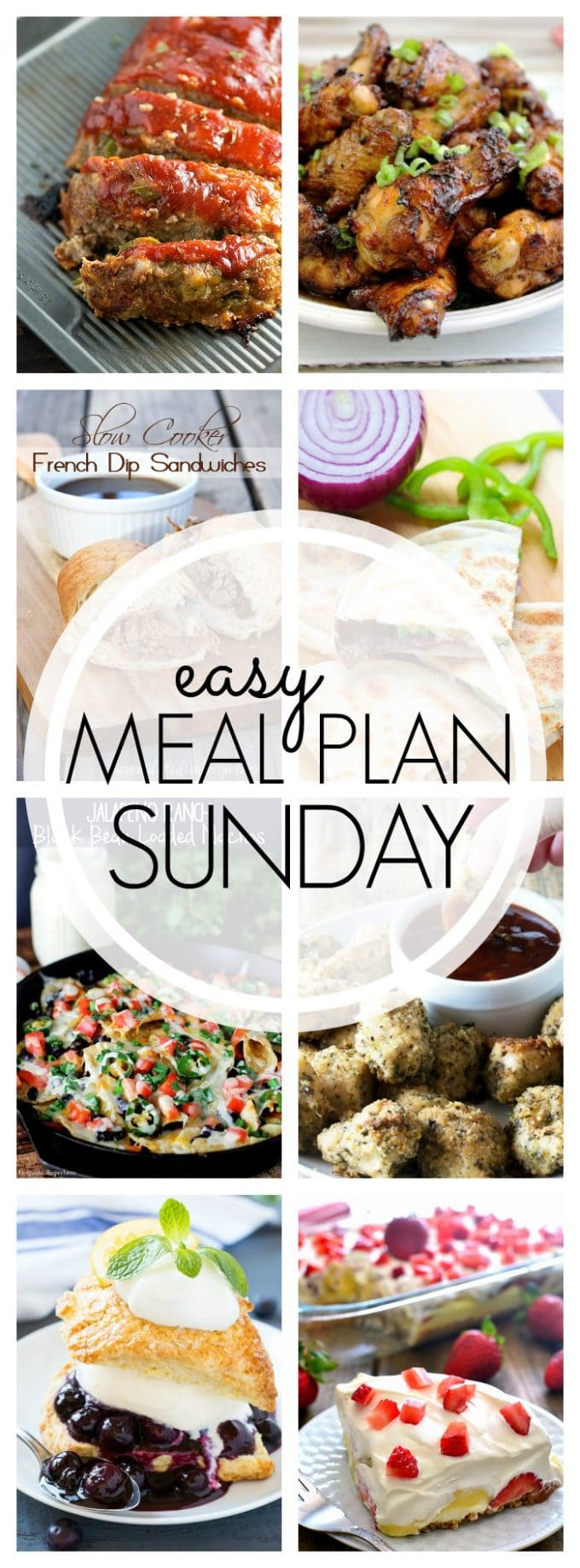 Easy Meal Plan Sunday Week 52