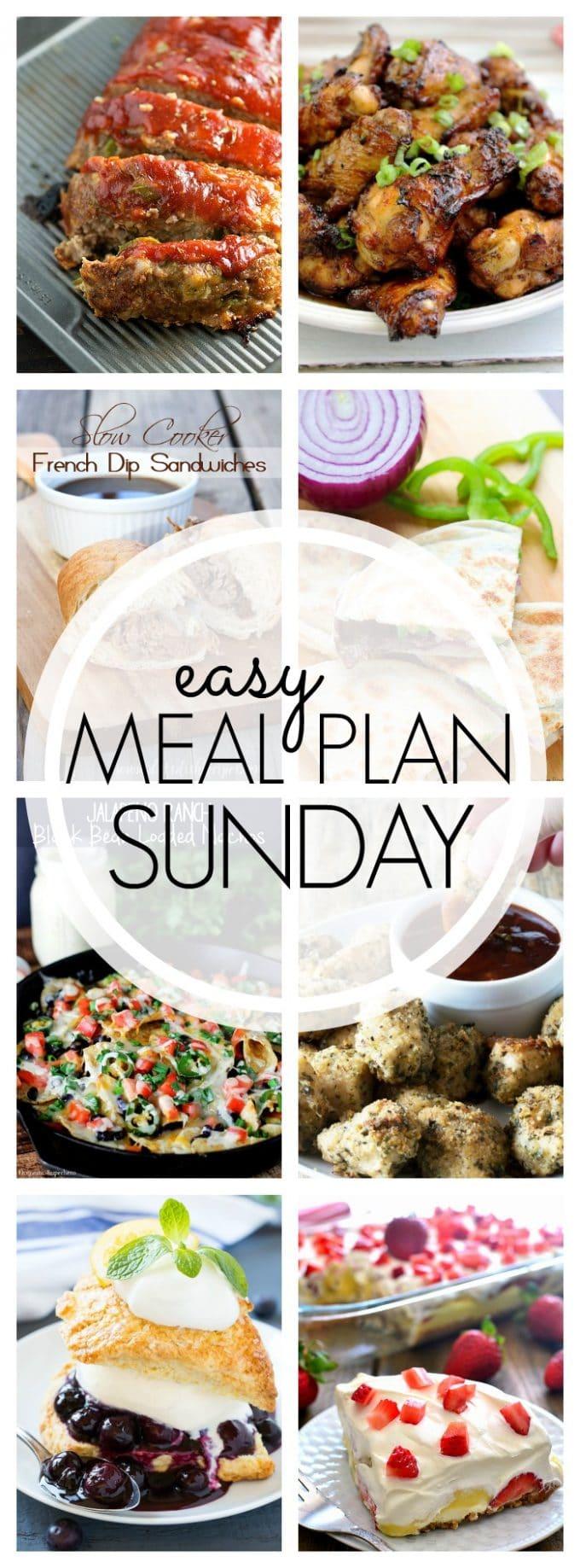 Easy Meal Plan Sunday Week 52