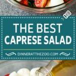 Caprese Salad Recipe   Tomato Salad #salad #tomato #mozzarella #cheese #basil #caprese #summer #dinneratthezoo