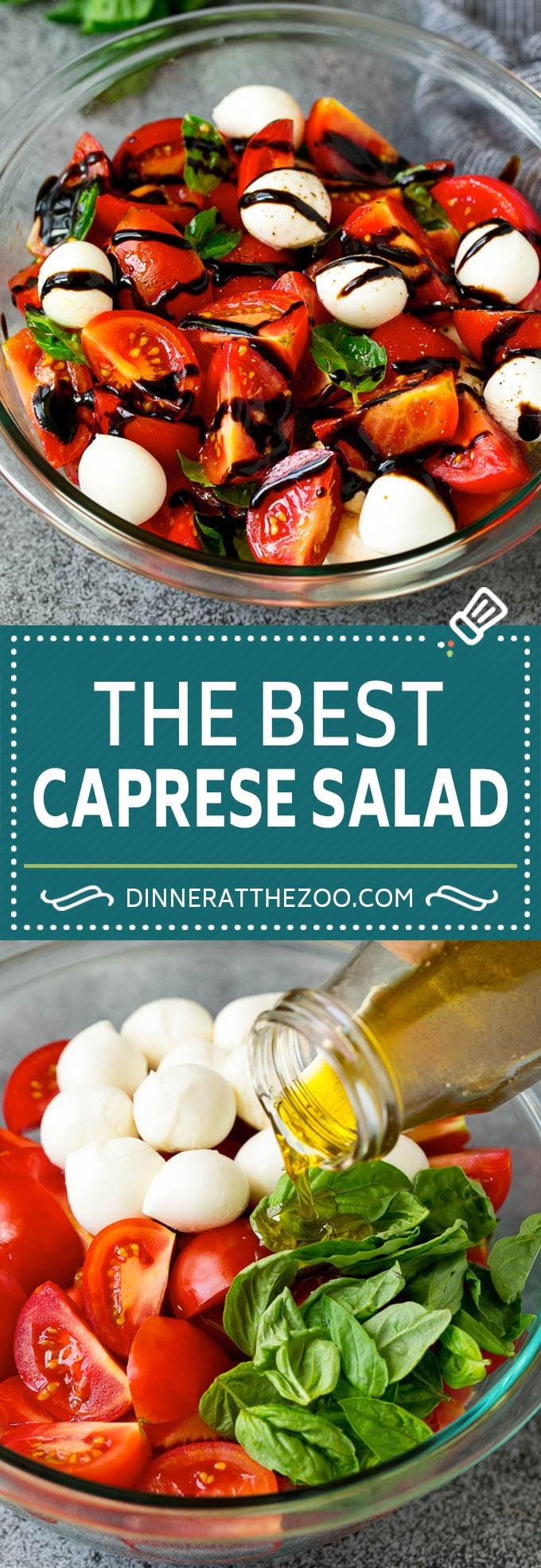 Caprese Salad Recipe | Tomato Salad #salad #tomato #mozzarella #cheese #basil #caprese #summer #dinneratthezoo