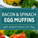 Egg Muffins Recipe | Low Carb Breakfast | Breakfast Meal Prep #eggs #lowcarb #keto #spinach #cheese #mealprep #breakfast #dinneratthezoo