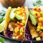 Tilapia Fish Tacos with Tropical Salsa