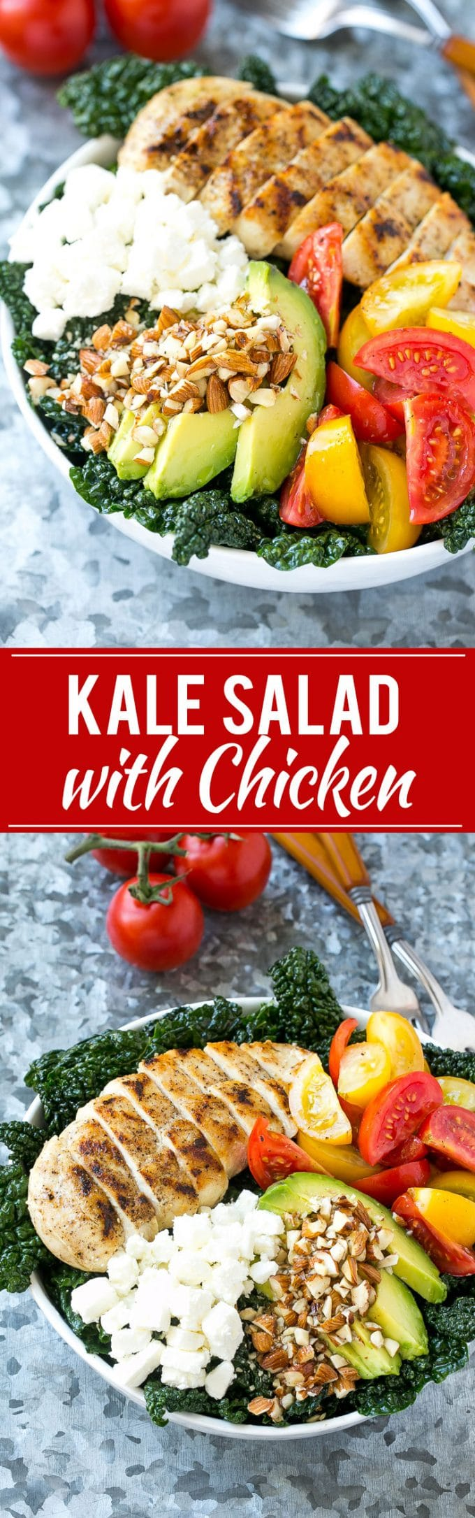 Tuscan Kale Salad Recipe | Kale Salad | Grilled Chicken Salad | Healthy Salad Recipe
